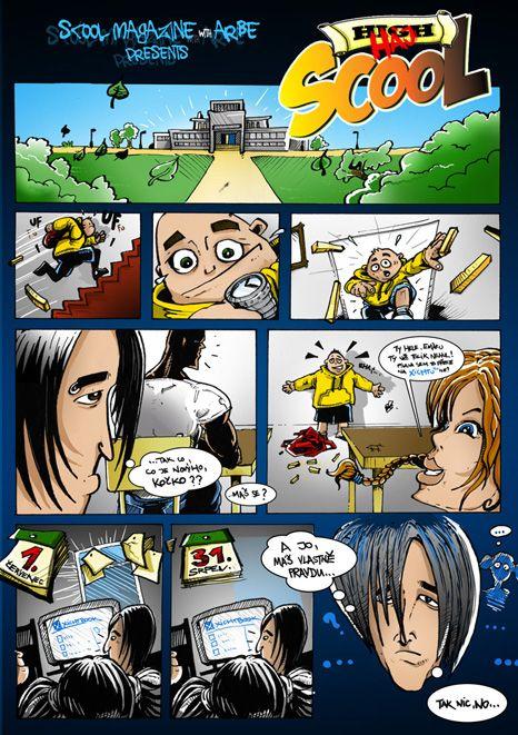 prvni dil comicsu pro casopis SCOOL