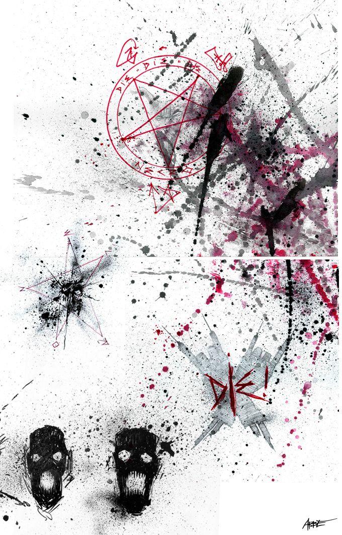 ilustrace NECRO DIE! Official music video