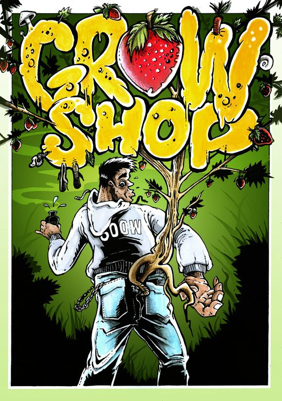 nerealizovaná ilustrace katalogu Growshop