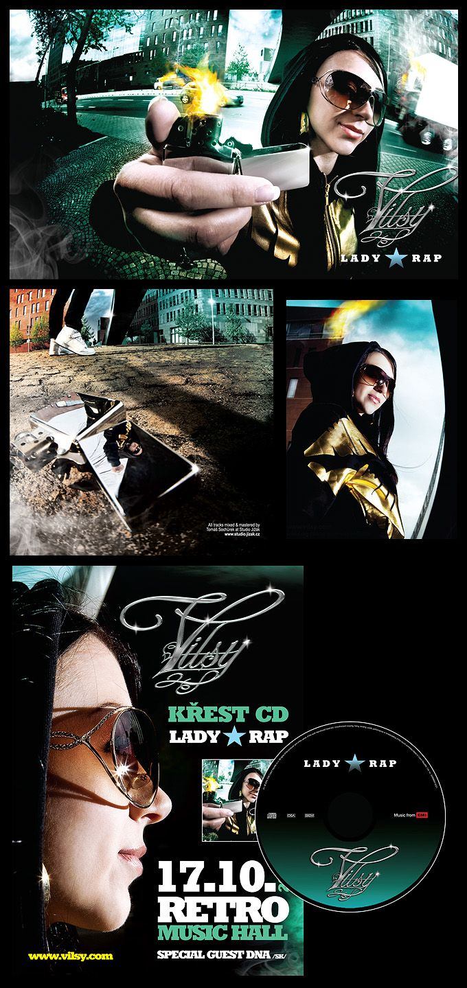ViLSY CD Lady Rap, booklet & cd art and composition, promo material...