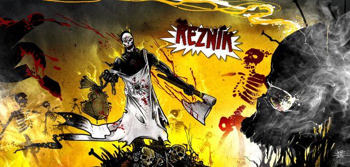 inside illustration for cd of Sodoma Gomora, czech horrorcore rap group