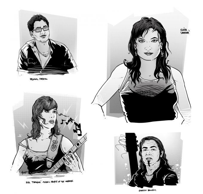 portretni ilustrace pro magazin Romano Vodi