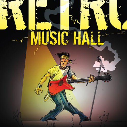art for RETRO MUSIC HALL promo mothly posters