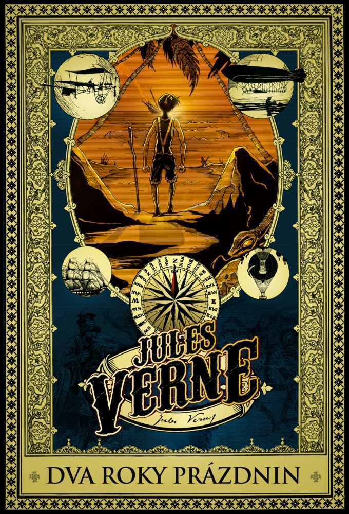 Jules Verne Dva roky prázdnin - book design/artworks/cover illustration