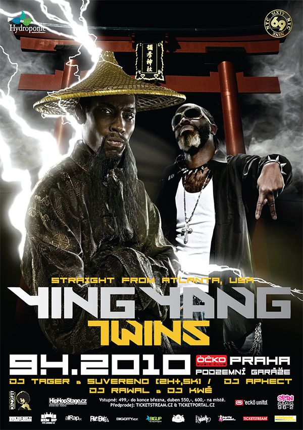 promo poster Ying Yang Twins show Prague