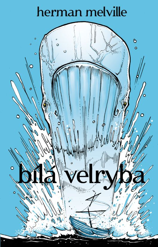 Herman Melville - Bílá velryba book cover/design/illustration