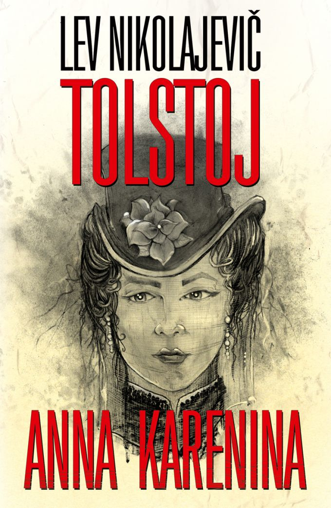 L.N.Tolstoj - Anna Karenina 2nd print- book design/artworks/cover illustration