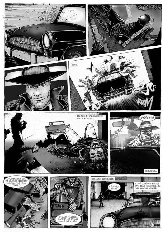 comics pro Zkrat magazin, scénář Jiří Pavlovský (CREW), strana 4