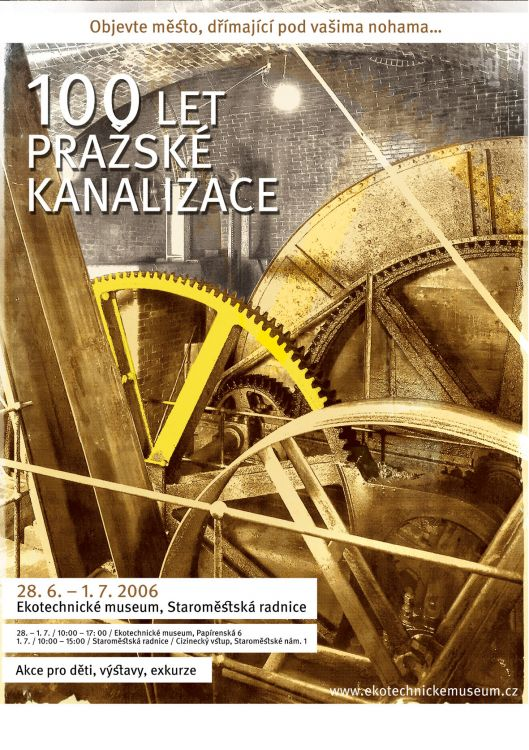 výročí 100 let pražské kanalizace, Ekotechnické muzeum, var. B