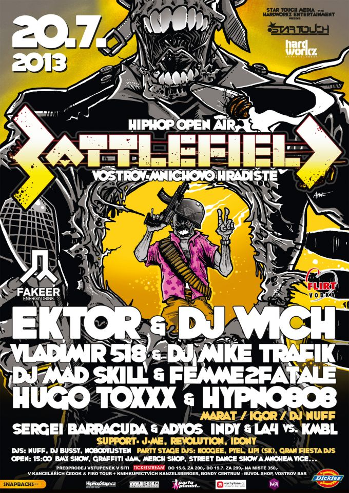 BattleField hiphop open air poster