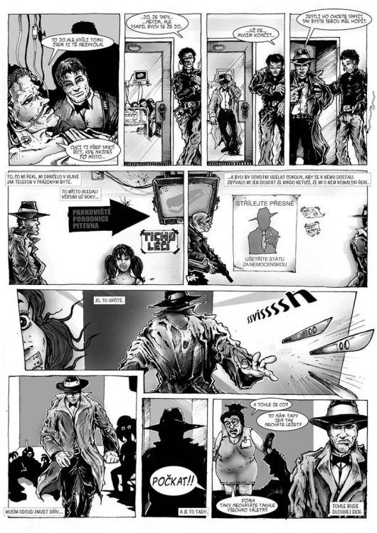 comics pro Zkrat magazin, scénář Jiří Pavlovský (CREW), strana 2