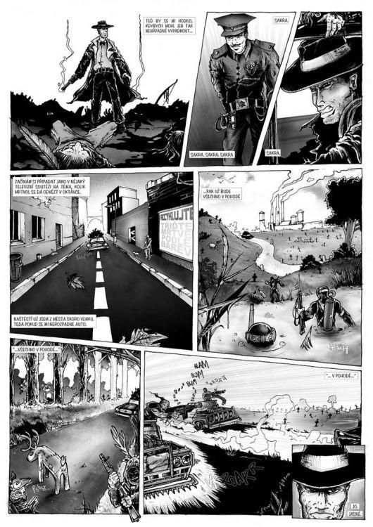comics pro Zkrat magazin, scénář Jiří Pavlovský (CREW), strana 6