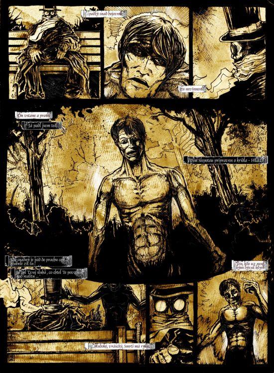 2.strana comicsu Havran