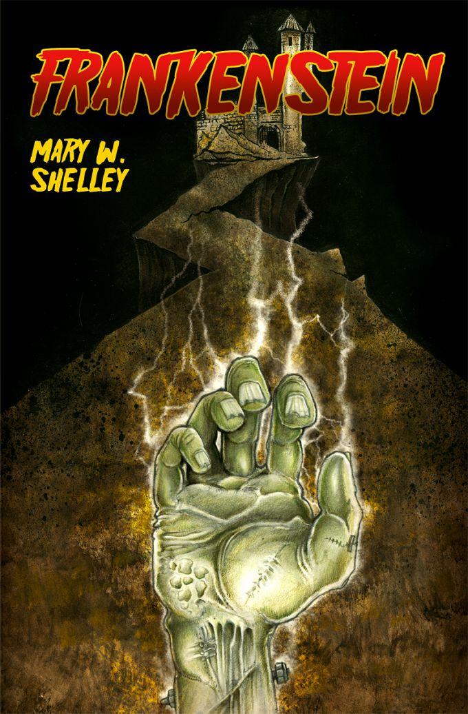 Marry W. Shelley - Frankenstein - book cover design+illustration
