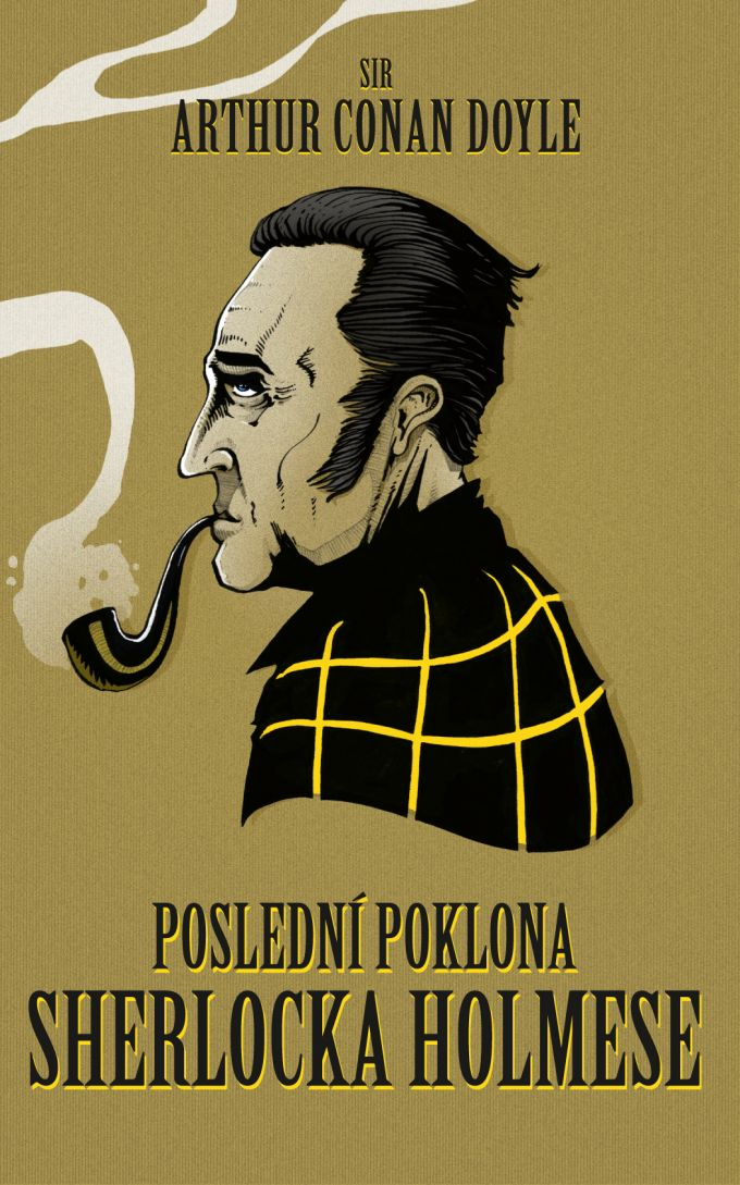 A.C.Doyle Posledni poklona sherlocka Holmese /book cover/design/illustration