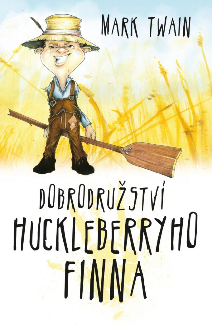 Mark Twain - Dobrodružství Huckleberryho Finna - book design/artworks/cover illustration