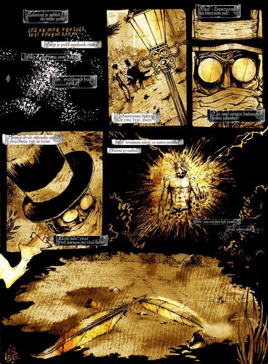3.strana comicsu Havran