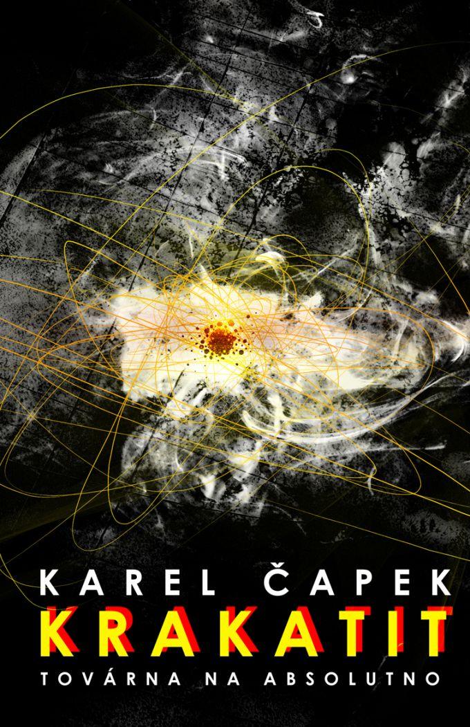 Karel Čapek Krakatit book cover/design