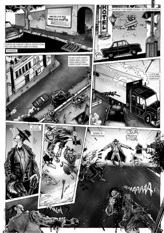 comics pro Zkrat magazin, scénář Jiří Pavlovský (CREW), strana 5