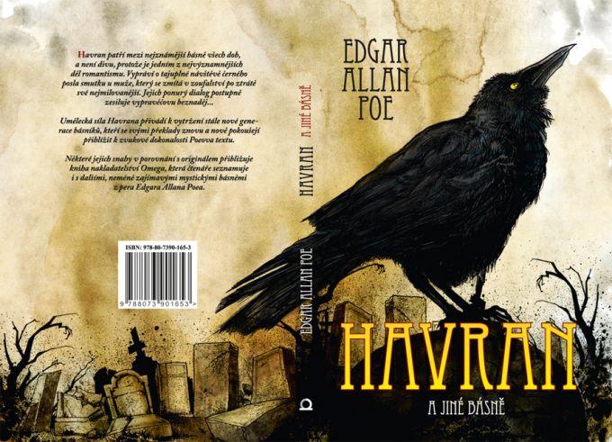 E.A.Poe - Havran book cover/design/illustration