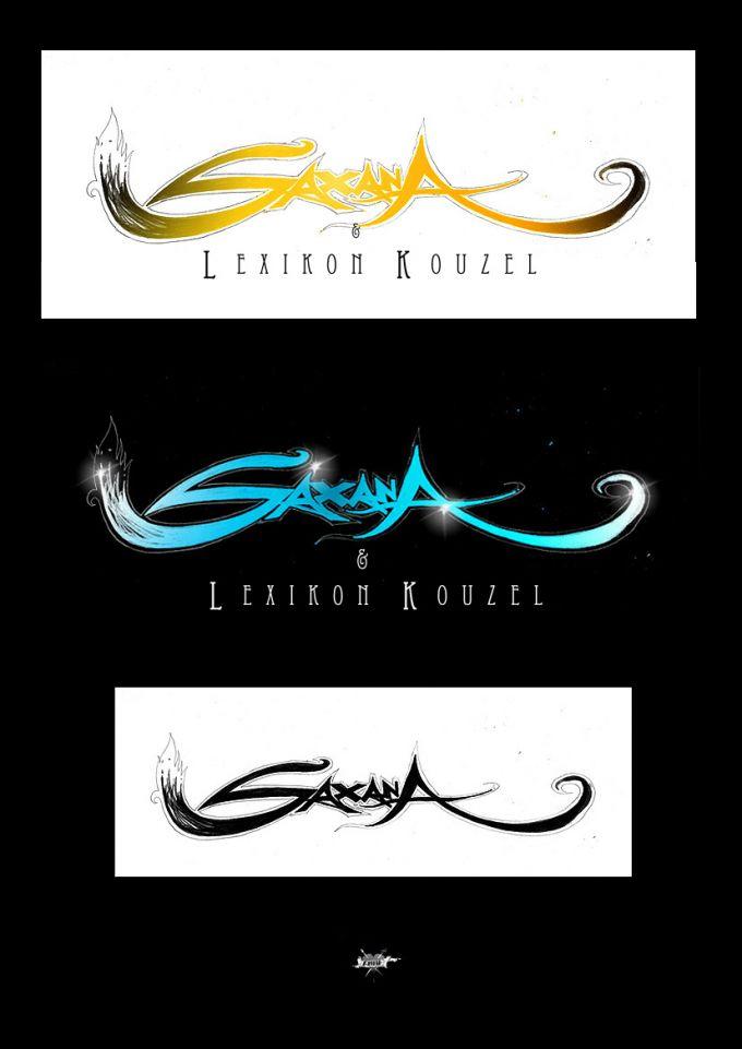 navrhy logotypu pro film Saxana