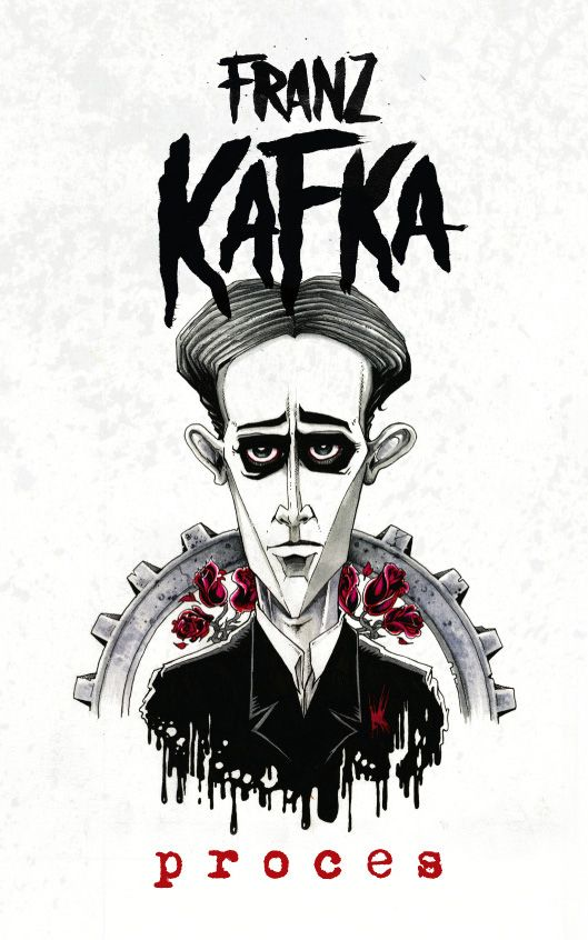 Franz Kafka - Proces book cover/design/illustration/hand typography