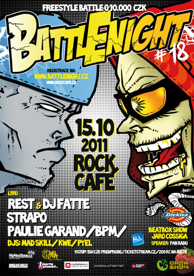 BATTLE NIGHT 18 poster and sticker