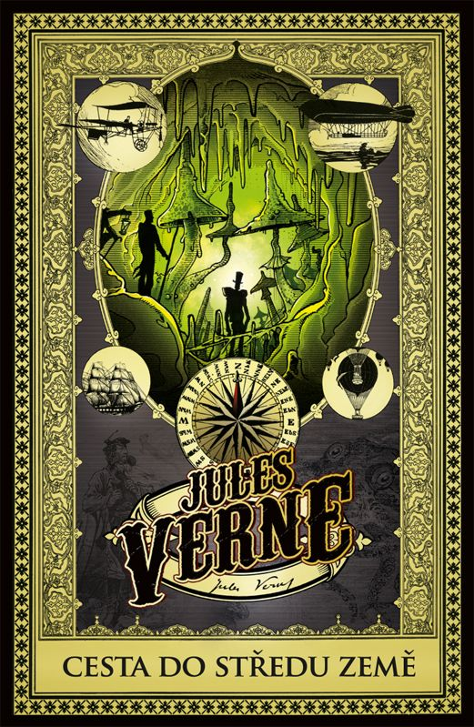 Jules Verne - Cesta do středu Země - book design/artworks/cover illustration