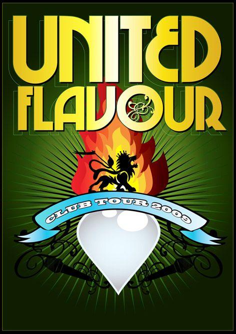 United Flavour Club Tour 2009 poster art