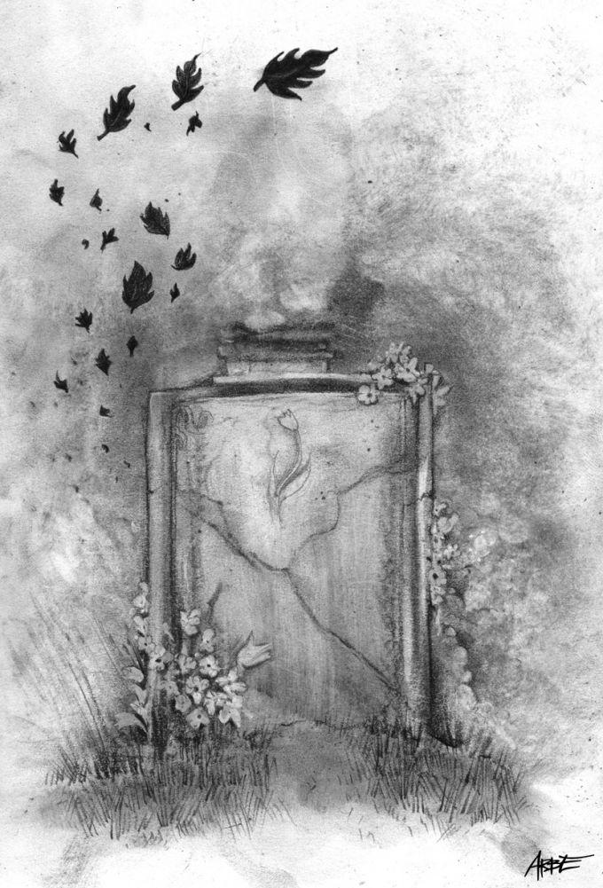 charcoal illustration K.J.Erben Kytice