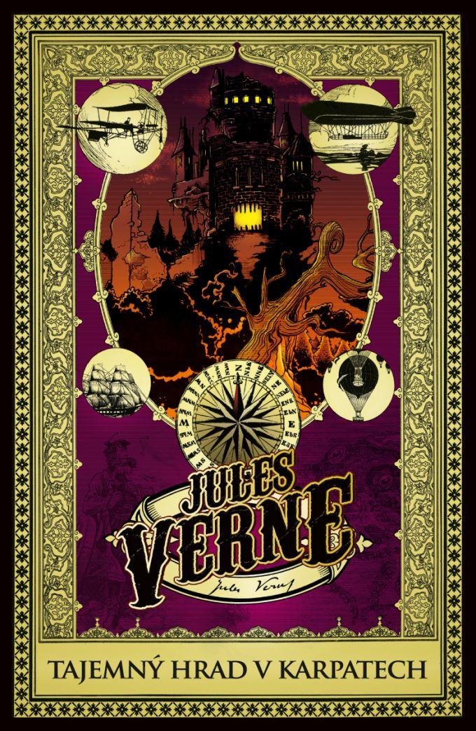 Jules Verne - Tajemný hrad v Karpatech - book design/artworks/cover illustration