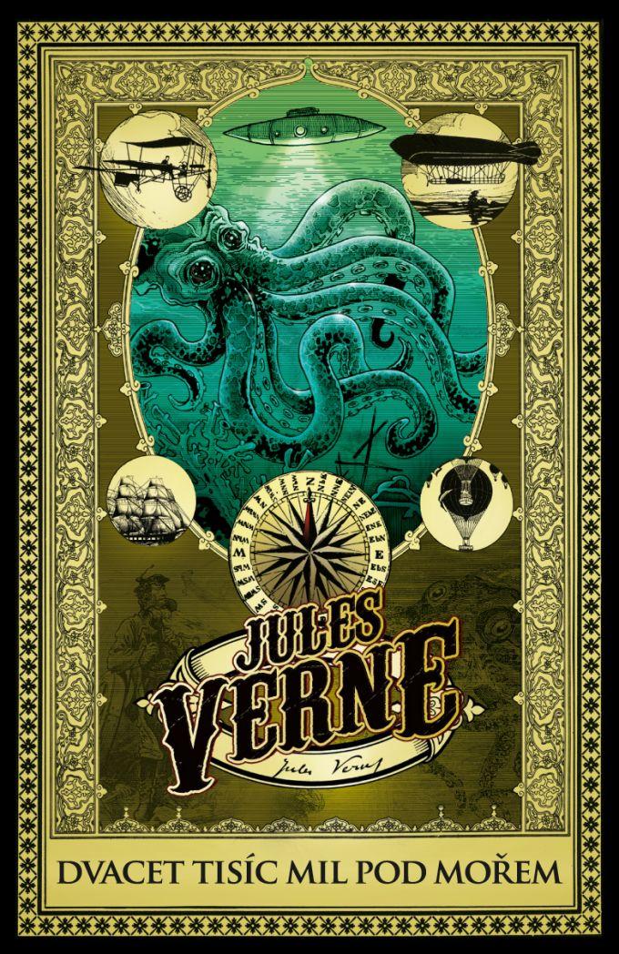 Jules Verne - 20 000 mil pod mořem -  design/artworks/cover illustration