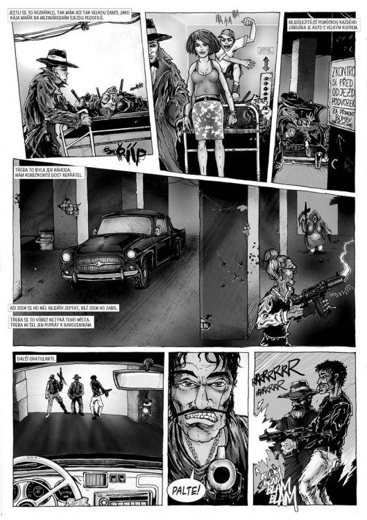 comics pro Zkrat magazin, scénář Jiří Pavlovský (CREW), strana 3