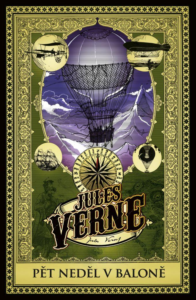 Jules Verne P�t ned�l v balon� - book design/artworks/cover illustration
