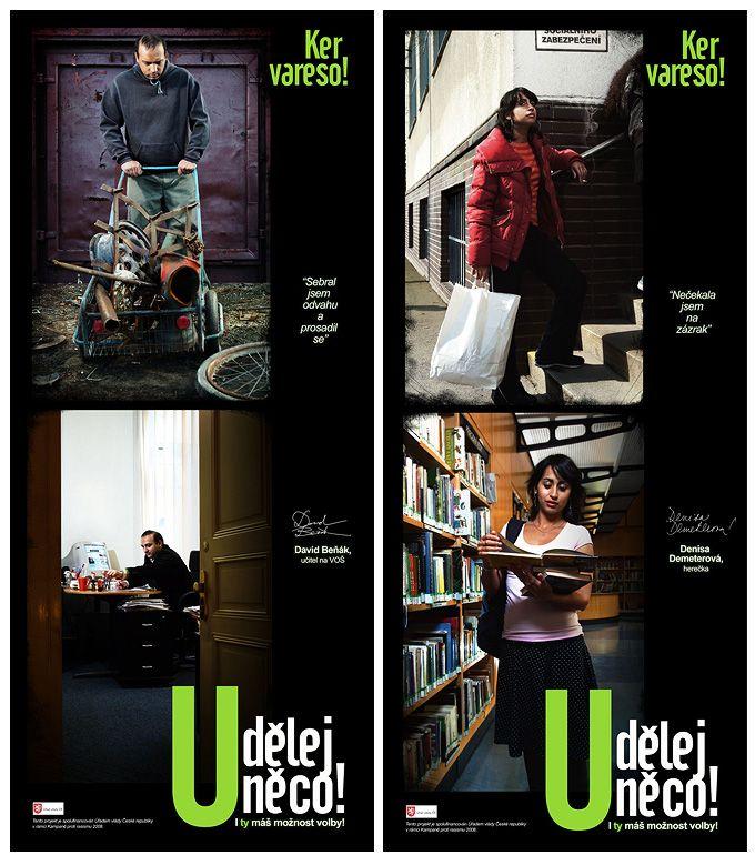 vizuály pro kampaň Udělej něco/Ker Vareso