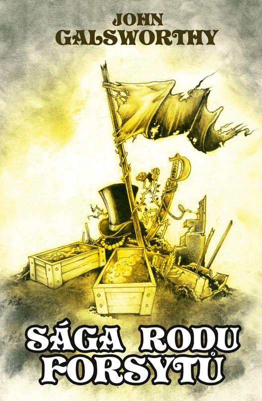 John Galsworthy Sága rodu Forsytu /book cover/design/illustration