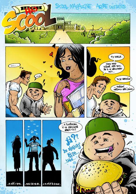 druhy dil comicsu pro casopis SCOOL