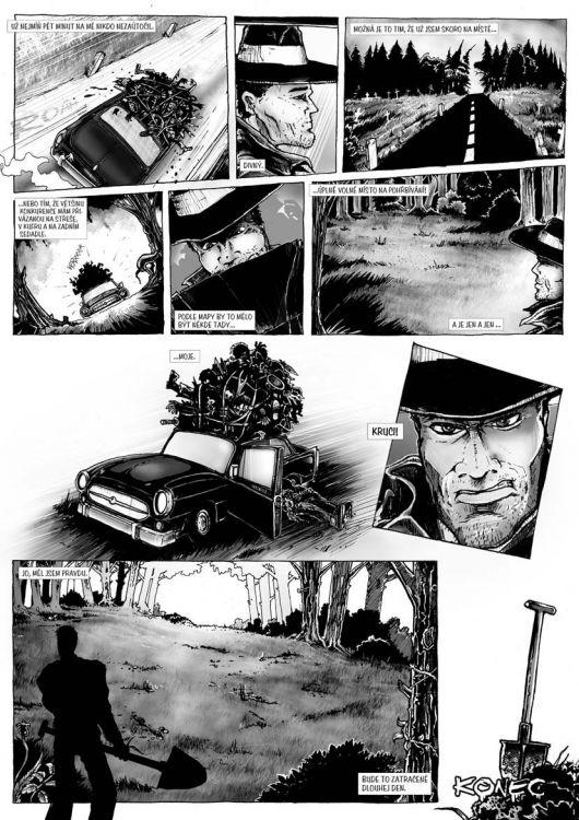 comics pro Zkrat magazin, scénář Jiří Pavlovský (CREW), strana 7