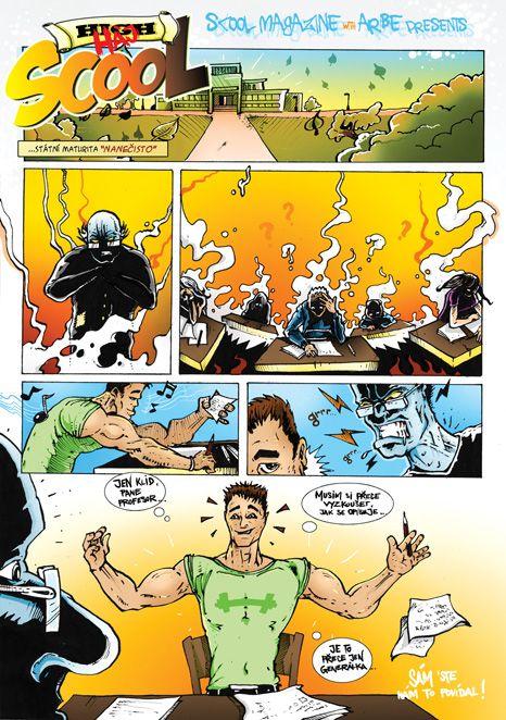 treti pokracovani comicsu pro casopis SCOOL