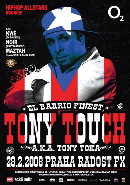 Tony Touch, concert Radost FX Praha