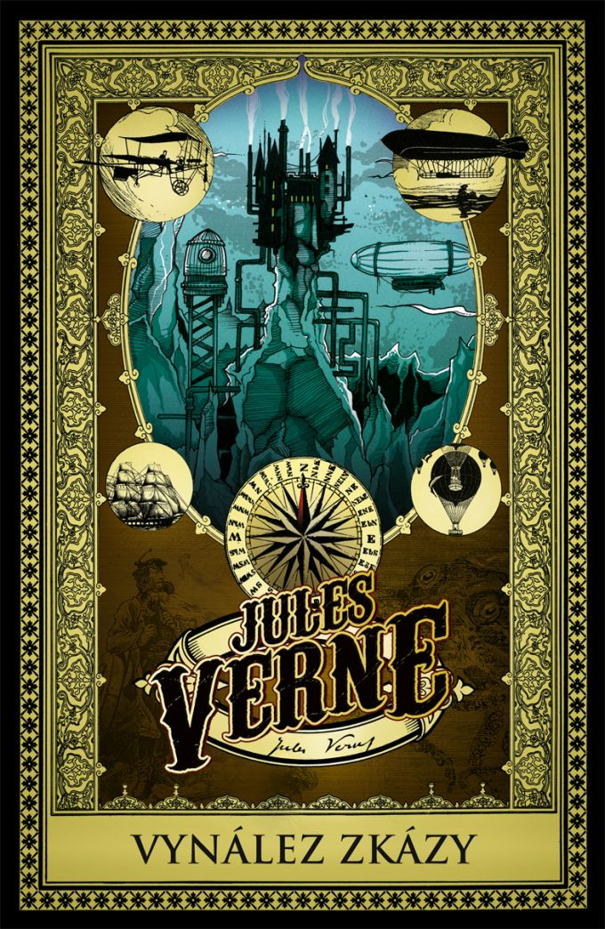 Jules Verne Vynález zkázy - book cover /illustration