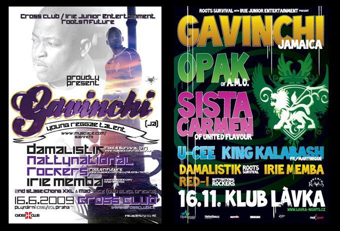 Gavinchi (JAM)promo materials 4 Prague shows
