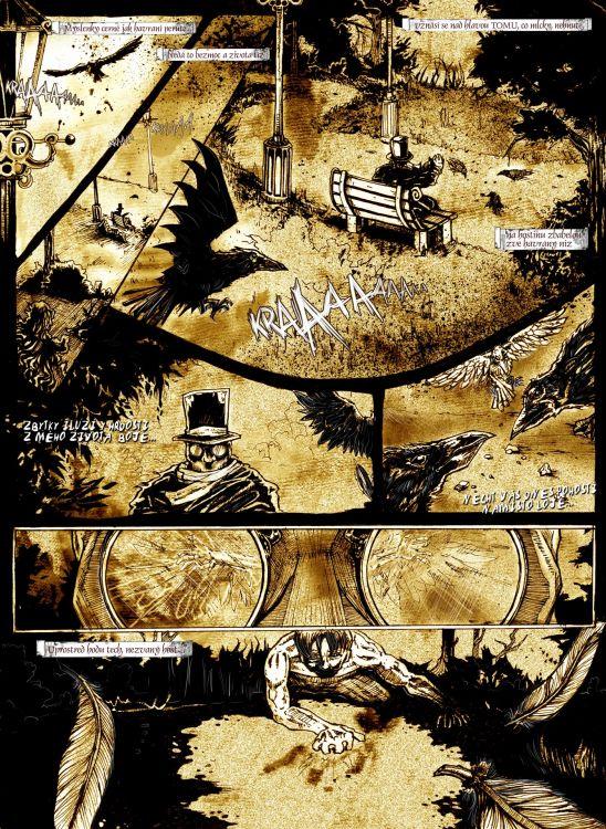 1.strana comicsu Havran